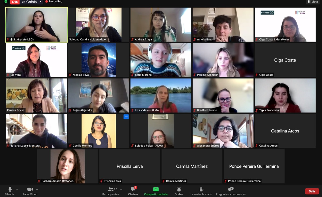 Mentoras de la Red PROVOCA analizaron desafíos y fortalezas de las mujeres STEM en Chile